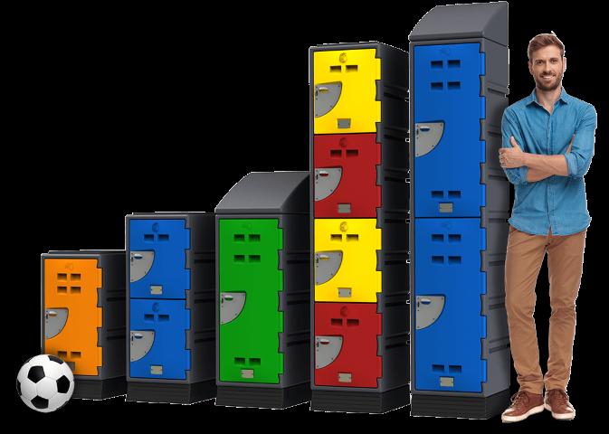 Plastic Lockers - A Series Lockers Popular man and ball