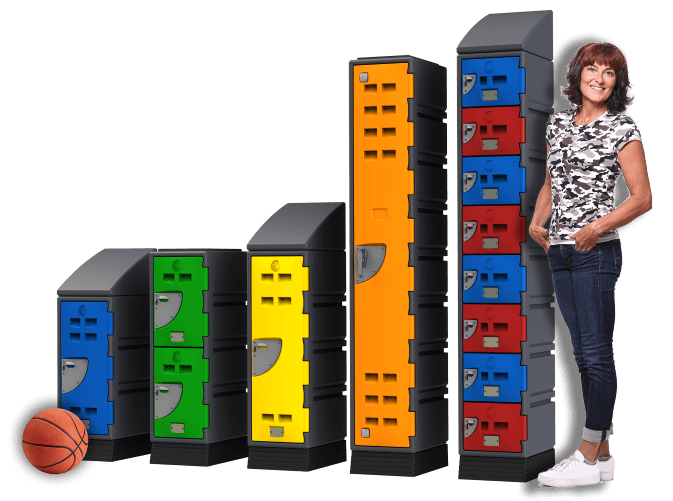 D Series Lockers and woman